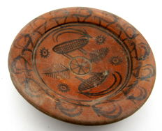 Indus Valley Painted Terracotta bowl depicting Antelope -  135x35mm