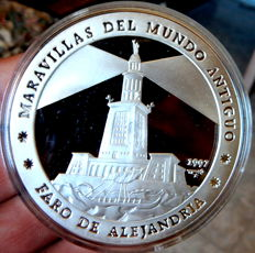 Cuba – Wonders of the Ancient World – Lighthouse of Alexandria – 50 Pesos 1997 – 5 ounces of pure silver – Very scarce