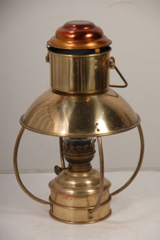 Nice authentic brass oil lamp for in cabin