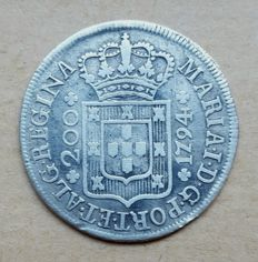 Portugal – 12 Vinténs 240 Réis 1794 – High Crown – Maria I . Very Scarce