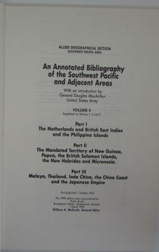 Sutherland - An Annotated Bibliography of the Southwest Pacific and Adjacent Areas - 4 volumes - 1944