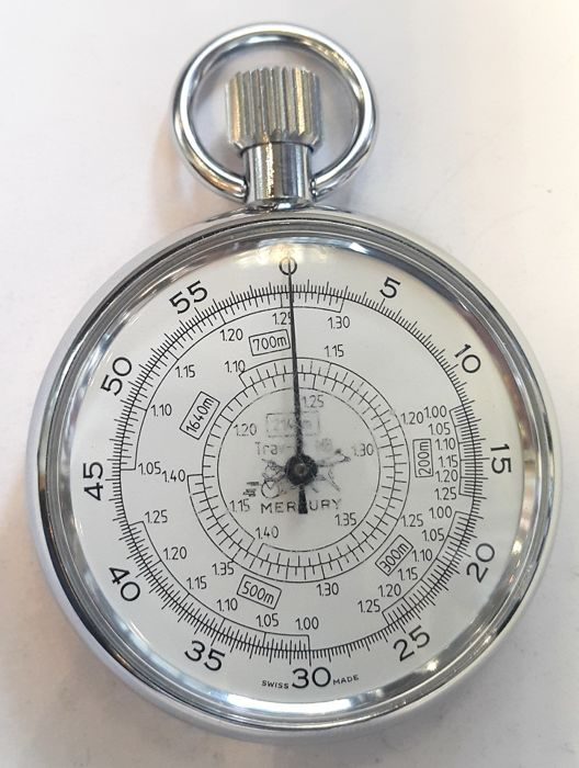 Mercury stopwatch for horse racing- Switserland ca 1940s