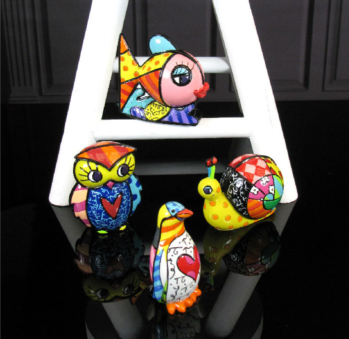 Romero Britto - Set 4 Animals