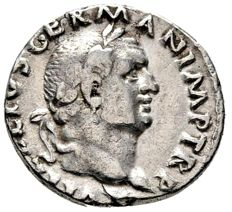 Roman Empire - Vitellius (April - 20 December AD 69.) silver denarius (2,70 g. 19 mm.) from Rome mint, 69 A.D. IVPPITER VICTOR. Jupiter seated on throne. Rare