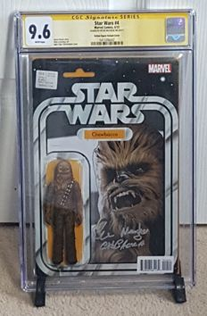 Marvel Comics – Star Wars #4 – John Tyler Christopher Chewbacca Action Figure Variant – Signed By Chewbacca / Peter Mayhew – CGC 9.6 – (2015)