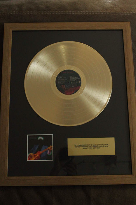 "Dire Straits ""Money for Nothing"" Golden plated LP"