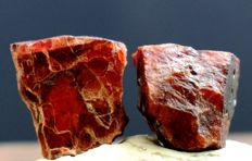 Rare Red Color Tantalite Crystals Pair - 12.5gr - 63 ct (2)
