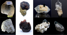 Lot of Mixed Minerals Specimens - 55 to 57 mm - 145 gm (8)