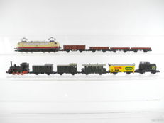 Arnold Rapido/Trix N - 10-piece freight train with steam locomotive T3 + defect electric locomotive E03 DB [148]