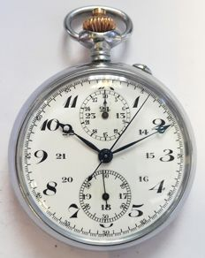 Antique Military Style Pocket Chronograph - Switzerland ,1900s