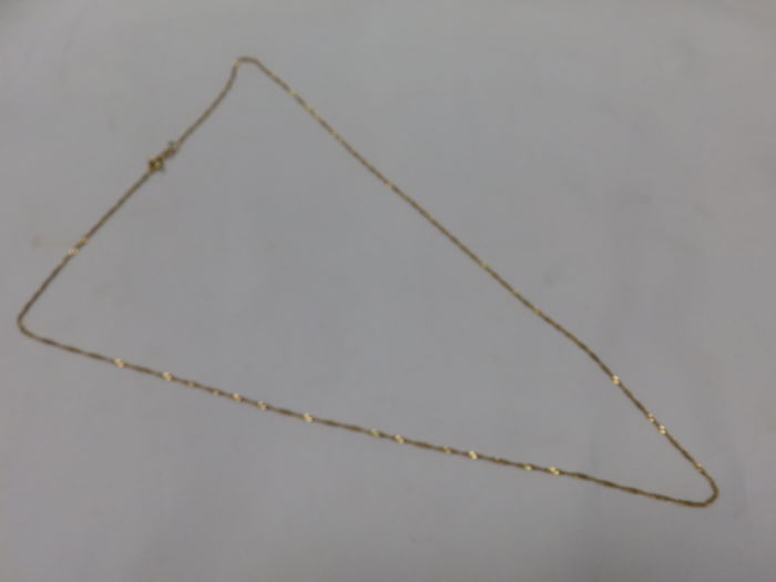 Two-tone 18 kt Gold Spiral Chain – 59 cm