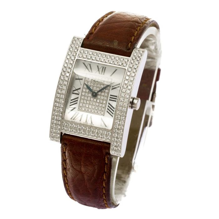 Chopard - Chopard H Your Hour 18k White Gold Diamond - 173451-1022 - Dames - 2011-heden
