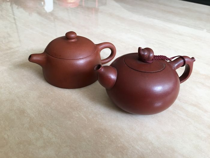 Two Yixing  teapots - China - second half 20th century