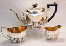 Silver tea / coffee service set - JJD&S - London - 1904