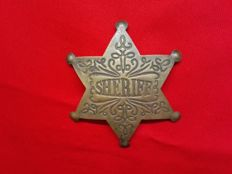 Official six-pointed sheriff star - metal