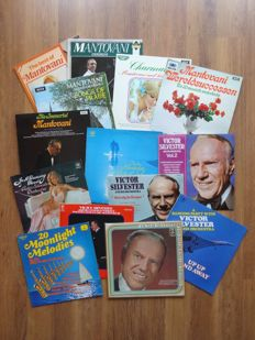 LOT of 13 LP's Beautiful & 1 Double LP from 3 famous Orchestra's Like; MANTOVANI, BILLY VAUGHN & VICTOR SILVESTER