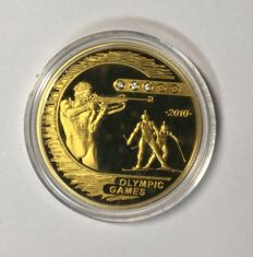 "Kazakhstan – 500 Tenge 2009 ""Biathlon Olympic Games 2010"" – ¼ oz gold"