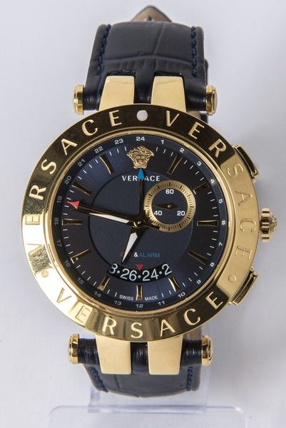 Versace-Model: V-Race 29G70D282S282 - GMT-Alarm-mannen horloge - New
