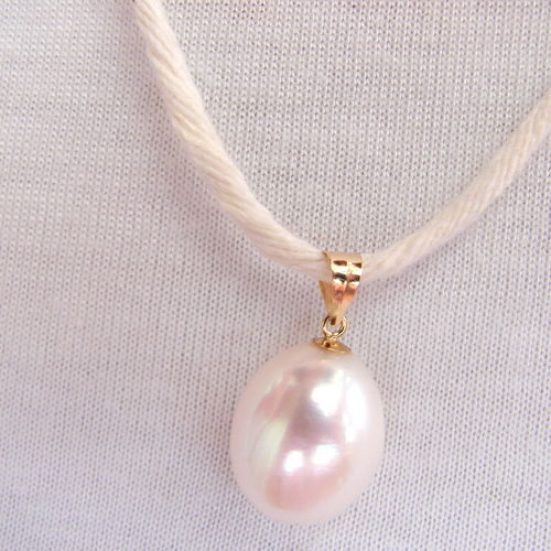 13/9 mm south sea pearl pendant drop, 14k gold
