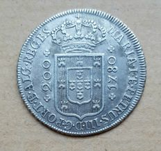 Portugal – 12 Vinténs 240 Réis 1794 – Low Crown – Maria I & Pedro III . Top Condition