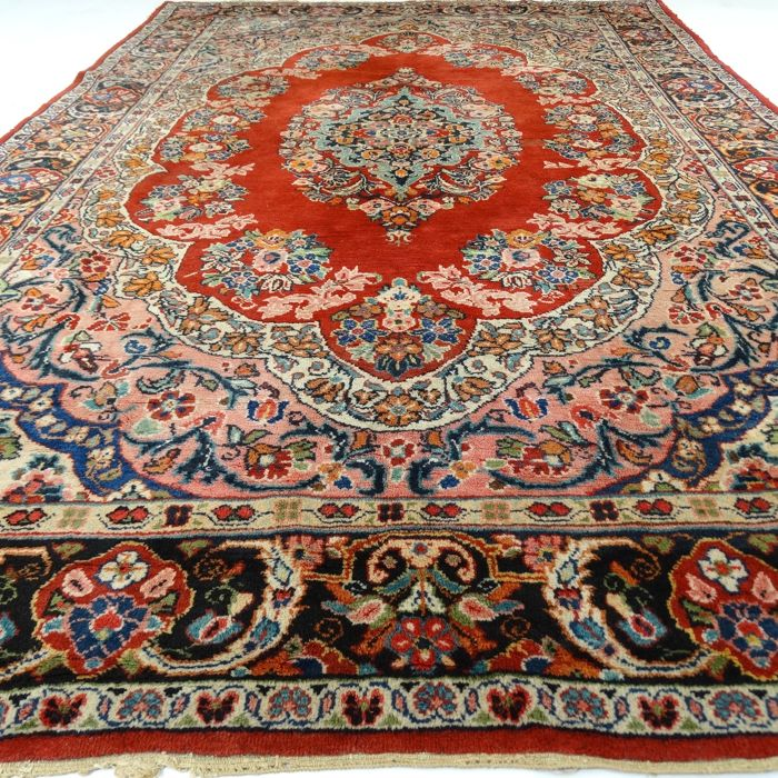 "Sarough-Mahal – 312 x 206 cm – ""Colourful eye-catcher – Persian beauty in wonderful condition"" – With certificate"