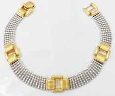 Bracelet in 18 kt/750 yellow and white gold. Length: 19 cm