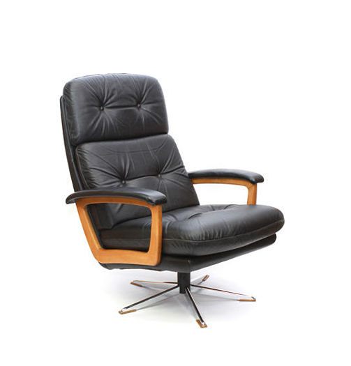 Pleasant Lubke Cor Leather Lounge Chair With Chrome Star Base Catawiki Theyellowbook Wood Chair Design Ideas Theyellowbookinfo