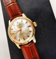 Gold Longines Automatic, waterproof, calendar and second hand