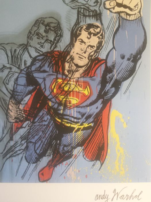 Superman Lithograph by Andy Warhol