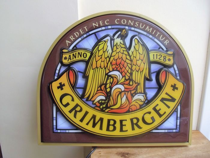 Neon sign - Grimbergen beer - approx 2003