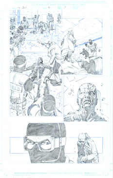 Original Art Page By at Olliffe - Marvel Comics - The Call #4 - Page 7 - (2003)