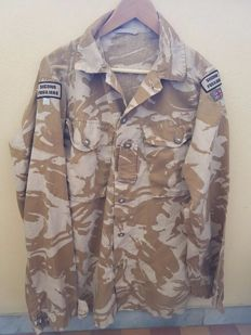 Incredible set Very Rare British shirt Special forces +  Light Stick British Army (NATO) second Gulf war - With name of the soldier and rare patch Second Fusiliers