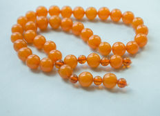 Vintage Baltic Amber rosary/mala honey butterscotch egg yolk colour, 53 gram
