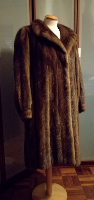 Demi buff mink coat, handmade