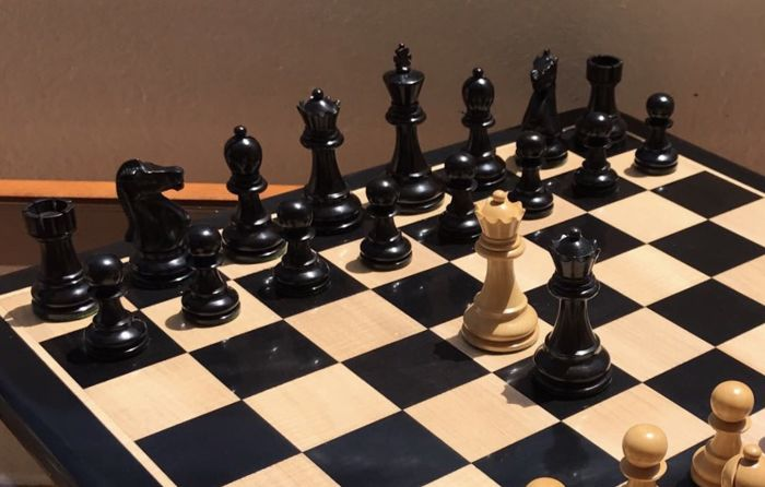 Chess set Match of the Century. Weighted Staunton 5. Tournament size.