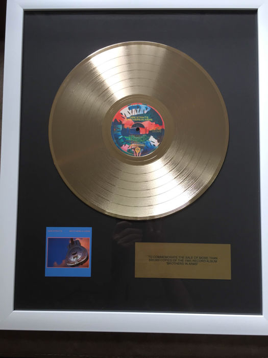 """Dire Straits """"Brothers In Arms"""" Golden plated LP"""