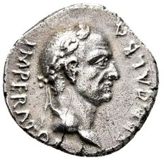 Roman Empire - Galba (april 68 - January 69 A.D.) silver denarius (3,27 g. 18 mm.). probably Narbo mint, 68 A.D. VICTORIA P.R. Rare.