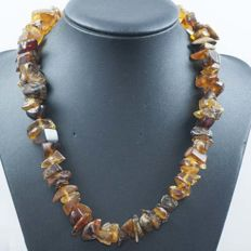 Necklace -18 kt gold - Baltic amber - 45 cm