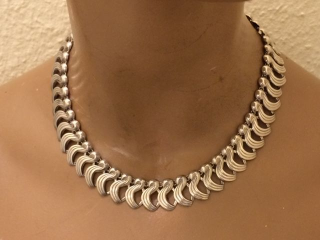 925 Silver Necklace – Moser&Pfeil – Germany, necklace length: 38-44 cm
