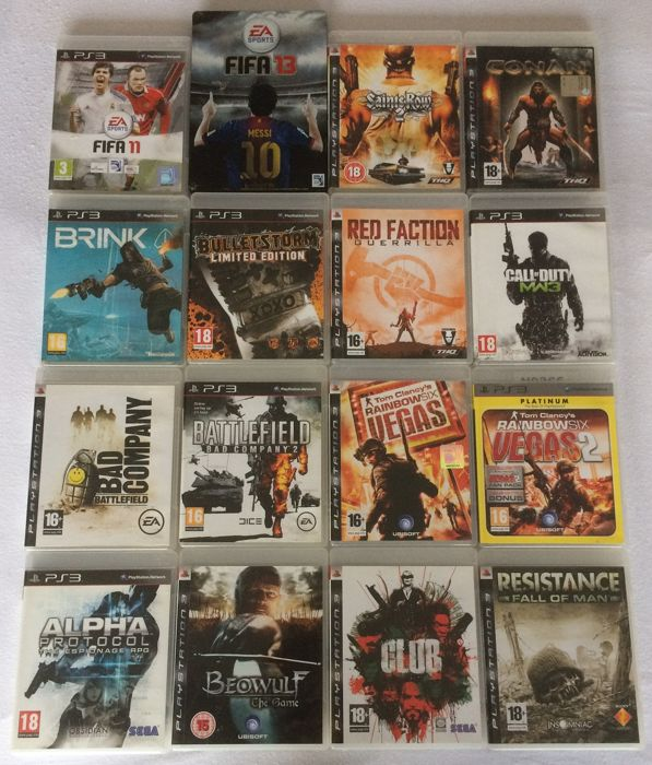 16 Playstation 3 games.