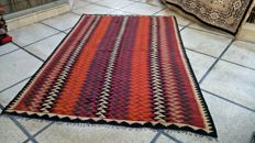 Fine QUality Colourful Maimana Ghal Mori Hand Woven Kilim Rug Double Face Design- 294 x 203 cm - 9.6 x 6.7 Feet