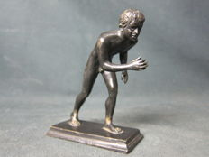 Grand Tour Bronze of a Wrestler after the Roman Original - Italy- 19th Century