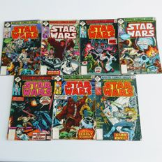 Collection Of Marvel Comics - Star Wars - 2nd Print Diamond Price Box - Issues #2 #3 #4 #5 #6 #13 #15 - (1977)