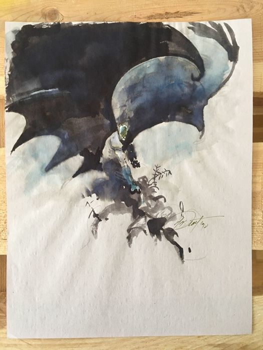 Original Art By George Pratt - Batman - Watercolor - Signed