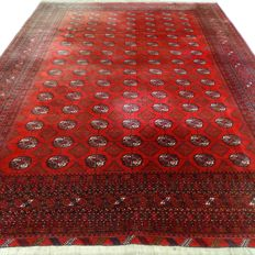 "Afghan – 351 x 253 cm – ""Large Persian carpet – 100% wool – In beautiful condition – With certificate"