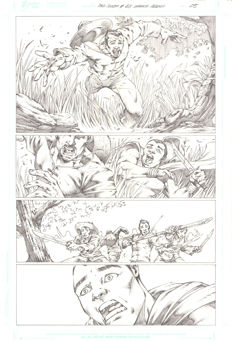 Original Art Page By Marcio Abreu - Dynamite Entertainment - Red Sonja #68 - Page 5 - (2012)