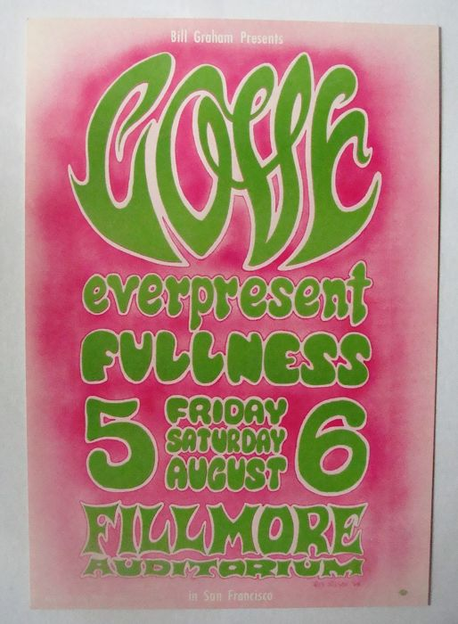 Love at The Fillmore San Francisco by  Wes Wilson 1966