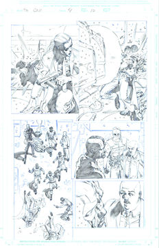 Original Art Page By Pat Olliffe - Marvel Comics - The Call #4 - Page 10 - (2003)