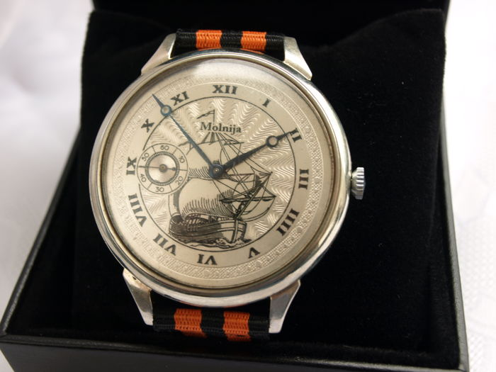 36 Molnija Sailing watch marriage wristwatch between 1950-55