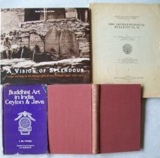 Lot with 6 books on art & archaeological sites in India (including studies by J. Ph. Vogel) - 1925/2008.